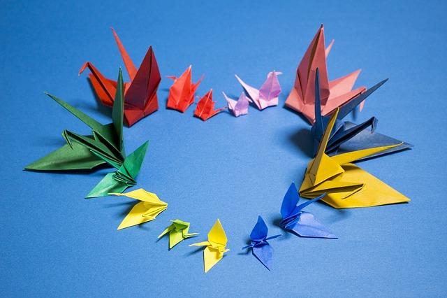 srdce z origami