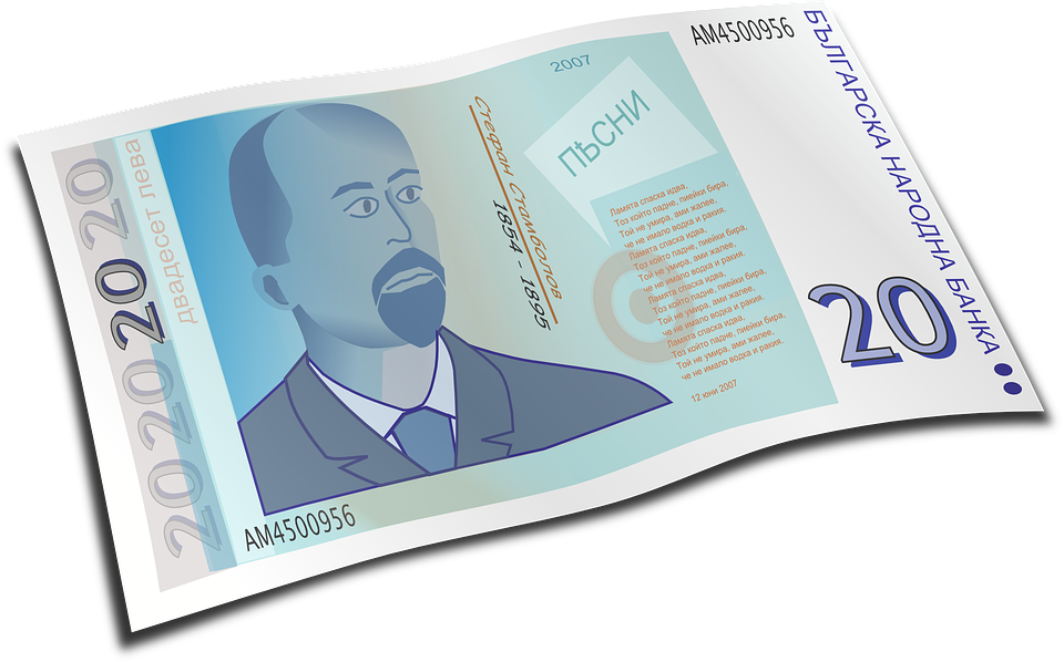 kreslená bankovka